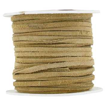 Beige Suede Lace on Spool - 1/8""
